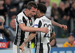 Mario Mandzukic and Dani Alves during Champions League Semi-finals match between Juventus v Monaco, in Turin, on may 9, 2017.(Photo by Loris Roselli/NurPhoto) *** Please Use Credit from Credit Field ***