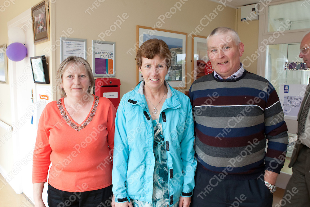 Pictured at Regina House in Kilrush Co Clare 40th Anniversary were<br />  Mary Troy & Ann & Padder Kaniry.<br /> Pictured Credit Brian Gavin Press 22