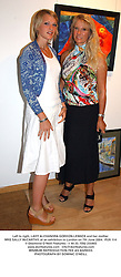 Left to right, LADY ALEXANDRA GORDON-LENNOX and her mother MRS SALLY McCARTHY, at an exhibition in London on 7th June 2004.PUX 114
