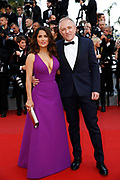"""Salma Hayek and her husband Francois henri Pinault attends the """" Carol """" Premiere during the 68th Cannes Film Festival in Cannes on May 17, 2015"""
