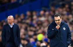 February 21, 2019 - London, Great Britain - 190221 Maurizio Sarri, head coach of Chelsea during the Europa league match between Chelsea and Malmö FF on February 21, 2019 in London..Photo: Petter Arvidson / BILDBYRÃ…N / kod PA / 92228 (Credit Image: © Petter Arvidson/Bildbyran via ZUMA Press)