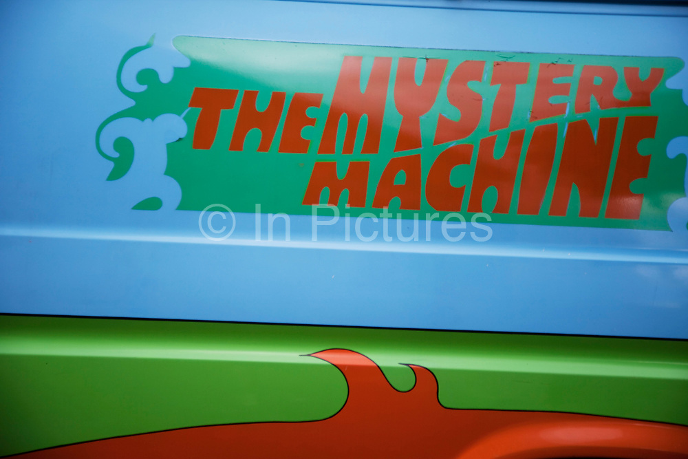Detail of the famous car used in the hit American cartoon movie and tv show Scooby Doo.