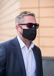 © Licensed to London News Pictures; 10/09/2020; Bristol, UK. Former Gloucester City Councillor LEE HAWTHORNE aged 40 arrives at Bristol Magistrates Court. He is charged with upskirting in Gloucester's TK Maxx branch, Northgate Street, on June 27 2019. The former former Gloucester City Councillor for Quedgeley Fieldcourt resigned as a Gloucester city councillor in April. The criminal offence of 'upskirting' was created under the Voyeurism Act as a new offence and came into force in England and Wales in April 2019, after a campaign by a woman targeted at a music festival. Offenders now face up to two years in jail, with the most serious put on the sex offenders' register. Photo credit: Simon Chapman/LNP.