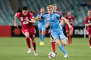 SYDNEY, NSW- NOVEMBER 21: Sydney FC forward Matt Simon (18) takes the ball downfield at the FFA Cup Final Soccer between Sydney FC and Adelaide United on November 21, 2017 at Allianz Stadium, Sydney. (Photo by Steven Markham/Icon Sportswire)