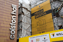 "© Licensed to London News Pictures; FILE PHOTO dated 15/06/2020; Bristol, UK. Today, 23/09/2020 the Bristol Music Trust have announced the new name ""Bristol Beacon"" for the entertainment and music venue formerly called the Colston Hall which is currently undergoing a major refurbishment. The Trust said three years ago that they would change the name due to the long standing controversy of the Colston name, and in June the year signs and letters saying ""Colston Hall"" were removed from Bristol's largest music and entertainment venue over ongoing controversy with the name being associated with the 17th century slave trader Edward Colston. In 2017 Bristol Music Trust had said they would change the name when the hall was refurbished, but with continuing delays and the recent Black Lives Matters events the name removal has been brought forward, despite the new name not yet being announced. The name removal comes just over a week after the statue of Edward Colston which has stood in Bristol city centre for over 100 years was pulled down by protestors and thrown in Bristol Docks during a Black Lives Matters rally and march through the city centre. The rally was held in memory of George Floyd, a black man who was killed on May 25, 2020 in Minneapolis in the US by a white police officer kneeling on his neck for nearly 9 minutes. Edward Colston (1636 – 1721) was a wealthy Bristol-born English merchant involved in the slave trade, a Member of Parliament and a philanthropist. He supported and endowed schools, almshouses, hospitals and churches in Bristol, London and elsewhere, and his name is commemorated in several Bristol landmarks, streets, three schools and the Colston bun. The killing of George Floyd has seen widespread protests in the US, the UK and other countries against both modern day racism and historical legacies of slavery. Photo credit: Simon Chapman/LNP."