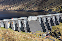 View from the Cruachan Dam and Reservoir, in Argyll and Bute, Scotland.