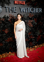 Anya Chalotra at THE WORLD PREMIERE OFTHE WITCHER at Vue Leicester Square London,  UK - 16 Dec 2019 photo by  Brian Jordan