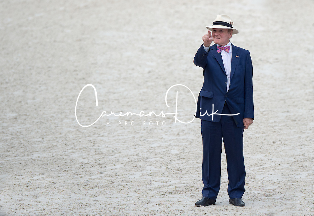 Dr. Pearse Lyons, Founder and President of Alltech - Show Jumping Final Four - Alltech FEI World Equestrian Games™ 2014 - Normandy, France.<br /> © Hippo Foto Team - Jon Stroud<br /> 07/09/2014