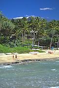 Kauna'oa Beach, at Mauna Kea Hotel, Island of Hawaii, Hawaii, USA<br />