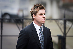 © London News Pictures. 22/11/2011. London, UK.  Former Premier League footballer GARRY FLITCROFT arriving at The Royal Courts of Justice today (22/11/2011) to give evidence at the Leveson Inquiry into press standards. The inquiry is being lead by Lord Justice Leveson and is looking into the culture, and practice of the UK press. The Leveson inquiry, which may take a year or more to complete, comes after The News of The World Newspaper was closed following a phone hacking scandal. Photo credit : Ben Cawthra/LNP