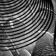 Incense coils abstract, Hong Kong, China (January 2006)