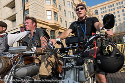Steve Norton of England on his 1904 Rex on the Atlantic City boardwalk at the start of the Motorcycle Cannonball Race of the Century. Stage-1 from Atlantic City, NJ to York, PA. USA. Saturday September 10, 2016. Photography ©2016 Michael Lichter.