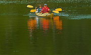Kayaking on Rushing River<br />Rushing River Provincial Park<br />Ontario<br />Canada