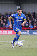 Andy Barcham midfielder for AFC Wimbledon (17) in action during the Sky Bet League 2 match between AFC Wimbledon and Accrington Stanley at the Cherry Red Records Stadium, Kingston, England on 5 March 2016. Photo by Stuart Butcher.