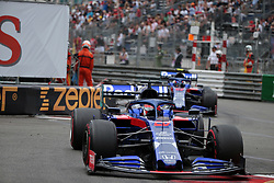 May 26, 2019 - Monte Carlo, Monaco - xa9; Photo4 / LaPresse.26/05/2019 Monte Carlo, Monaco.Sport .Grand Prix Formula One Monaco 2019.In the pic: Daniil Kvyat (RUS) Scuderia Toro Rosso STR14 leads Alexander Albon (THA) Scuderia Toro Rosso STR14 (Credit Image: © Photo4/Lapresse via ZUMA Press)