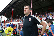 FILE pic of Marinus Dijkhuizen who has been sacked by Brentford on  28/9/2015. Marinus Dijkhuizen, the Brentford head coach arrives at the dugout before k/o. Skybet football league Championship match, Brentford v Ipswich Town at Griffin Park in London on Saturday 8th August 2015.<br /> pic by John Patrick Fletcher, Andrew Orchard sports photography.