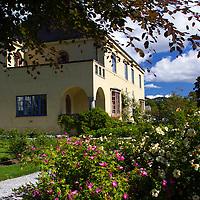 Europe, Norway, Molde. Garden in Molde, city of roses.