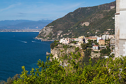 Sorrento, Italy, September 17 2017. The village of Seiano, Italy, overlooks the bay of Naples in the Mediterranean sea. © Paul Davey