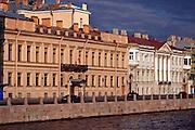 Saint Petersburg, Russia, 25/07/2005..Fontanka Embankment opposite the Mikhailovsky Palace.