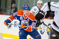 KELOWNA, CANADA - OCTOBER 2: Ryan Nugent-Hopkins #93 of the Edmonton Oilers skates against Los Angeles Kings on October 2, 2016 at Kal Tire Place in Vernon, British Columbia, Canada.  (Photo by Marissa Baecker/Shoot the Breeze)  *** Local Caption *** Ryan Nugent-Hopkins;