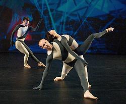 Nearly Ninety<br /> The Merce Cunningham Dance Company <br /> choreography by Merce Cunningham<br /> at The Barbican Theatre, London, Great Britain <br /> rehesrsal <br /> 26th October 2010 <br /> <br /> Silas Riener<br /> John Hinrichs<br /> Marcie Munnerlyn <br /> <br /> <br /> <br /> Photograph by Elliott Franks<br /> 2010©Elliott Franks