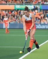 AMSTELVEEN -  Lidewij Welten (Ned)   tijdens Nederland - Spanje (dames) bij de Rabo EuroHockey Championships 2017.  COPYRIGHT KOEN SUYK