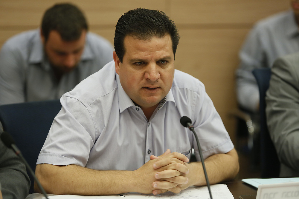 Arab-Israeli lawmaker, Member of the Knesset Ayman Odeh, at the Knesset, Israel's parliament in Jerusalem, on June 24, 2015.