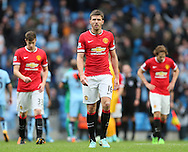 Michael Carrick of Manchester United dejected walks to thanks the fans - Barclays Premier League - Manchester City vs Manchester Utd - Etihad Stadium - Manchester - England - 2nd November 2014  - Picture David Klein/Sportimage