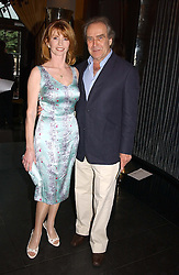 Actress JANE ASHER and her husband MR GERALD SCARFE at Tatler Magazine's Summer Party held at the Baglioni Hotel, 60 Hyde Park Gate, London SW7 on 1st July 2004.