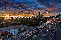 Evening Dusk in Seattle