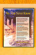 Interpretive sign, Hovenweep National Monument, Utah USA