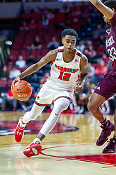 NORMAL, IL - January 07: Antonio Reeves drives in on Josh Hall during a college basketball game between the ISU Redbirds and the University of Missouri State Bears on January 07 2020 at Redbird Arena in Normal, IL. (Photo by Alan Look)