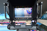 BBC Sport TV camera at Day 13 of the 2016 LEN European Aquatics Championship Swimming Finals at the London Aquatics Centre, London, United Kingdom on 21 May 2016. Photo by Martin Cole.