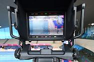 BBC Sport TV camera at Day 13 of the 2016 LEN European Aquatics Championship Swimming Finals at the London Aquatics Centre, London, United Kingdom on 21 May 2016. Photo by Martin Cole.