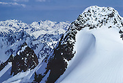 The Bailey Range extends east of Mount Olympus. Seen from the False Summit of Mount Olympus, in Olympic National Park (a UNESCO World Heritage Site) in Washington, USA.