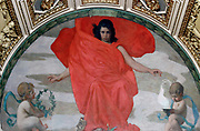 Northwest Corridor, First Floor. Mural depicting the muse Melpomene (Tragedy), by Edward Simmons. Library of Congress Thomas Jefferson Building, Washington, D.C.