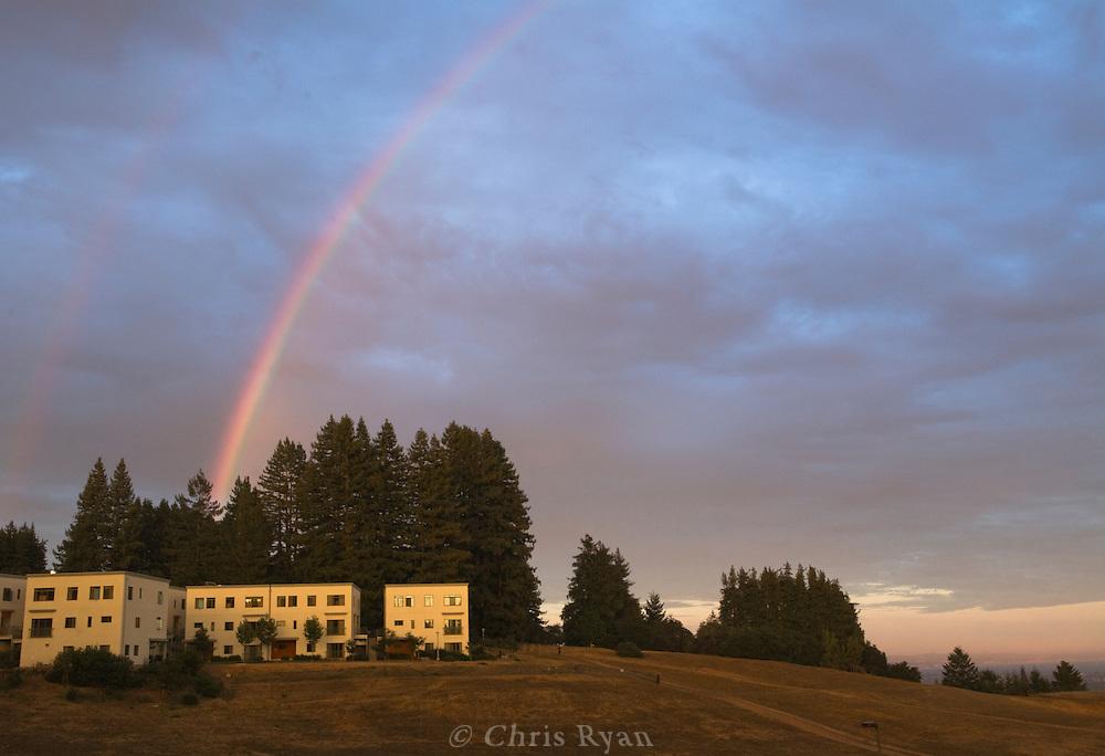 Double rainbow at UCSC, Santa Cruz, California