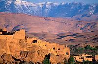 Maroc - Haut Atlas - Vallée du Dadès -Kasbah à El Kelâa M'Gouna