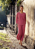 Marlene is modeling an outfit for Charles Keth in Viscaya, a beautiful South Florida location.