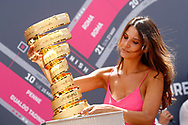 Miss, Hostess with trophy before the 101th Tour of Italy, Giro d'Italia 2018, stage 5, Agrigento - Santa Ninfa 152 km on May 9, 2018 in Italy - Photo Dario Belingheri / BettiniPhoto / ProSportsImages / DPPI