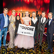 NLD/Amsterdam/20161025 - finale Holland Next Top model 2016, Rick Brandsteder, Anouk Smulders - Voorveld, Anna Nooshin, Fred van Leer, fotograaf Alek Bruessing
