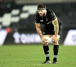 Ospreys' Guy Mercer<br /> Photographer Mike Jones/Replay Images<br /> <br /> Guinness PRO14 Round Round 16 - Ospreys v Cheetahs - Saturday 24th February 2018 - Liberty Stadium - Swansea<br /> <br /> World Copyright © Replay Images . All rights reserved. info@replayimages.co.uk - http://replayimages.co.uk