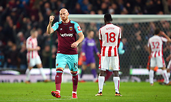 West Ham United's James Collins celebrates his side's first goal of the game