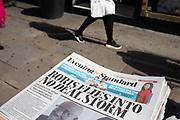 Boris Johnson No Deal Brexit headline on the Evening Standard newspaper in London, United Kingdom.
