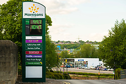 The Barracks in Hillsborough  Sheffield during  the UK's emergency measures. and Morrisons petrol prices have fallen to 99.7p per litre with Diesel down to 104.7per litre<br /> <br /> <br /> 11 May 2020<br /> <br /> www.pauldaviddrabble.co.uk<br /> All Images Copyright Paul David Drabble - <br /> All rights Reserved - <br /> Moral Rights Asserted -