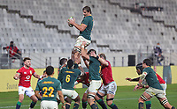 Rugby Union - 2021 British & Irish Lions Tour of South Africa - Second Test: South Africa vs British & Irish Lions<br /> <br /> Eben Etsebeth wins a line-out, at Cape Town Stadium, Cape Town.<br /> <br /> COLORSPORT / JOHAN ORTON