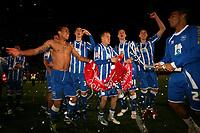 Football - League One - Brighton & Hove Albion vs. Dagenham and Redbridge<br /> The Brighton team celebrate winning promotion