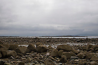 Rocky landscape at the sea in Galway Ireland