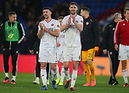 Sheffield United's Enda Stevens and Chris Basham after the Premier League match at Selhurst Park, London. Picture date: 1st February 2020. Picture credit should read: Paul Terry/Sportimage