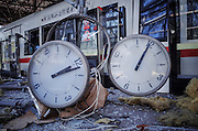 TIANJIN, CHINA - AUGUST 23: (CHINA OUT)<br /> <br /> A Visit To Donghai Road Subway Station After Tianjin\'s Massive Explosion<br /> <br />  Subway train is broken at Donghai Road Subway Station after warehouse explosion on August 23, 2015 in Tianjin, China. Tianjin massive explosion in Wednesday night had killed 123 people, and there being still another 50 in missing, officials said. The Donghai Road Subway Station is less than one kilometres from the blast site and the station has been damaged by blasts. <br /> ©Exclusivepix Media